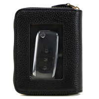 TIDING Men Real Leather Purse Credit Card Car Key Holder Fashion Large Multifunctional Wallet Coin Best