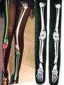 2015 fashion through Skeleton Women Stockings bone print fake Japanese tattoo stocking pantyhose punk legging Sexy slim woman
