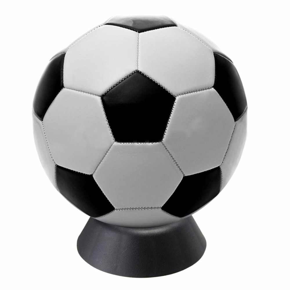 High Quality 1 Pc Basketball Football Soccer Stands Rugby Ball Support Base Black Color Plastic Ball Stand Display Holder