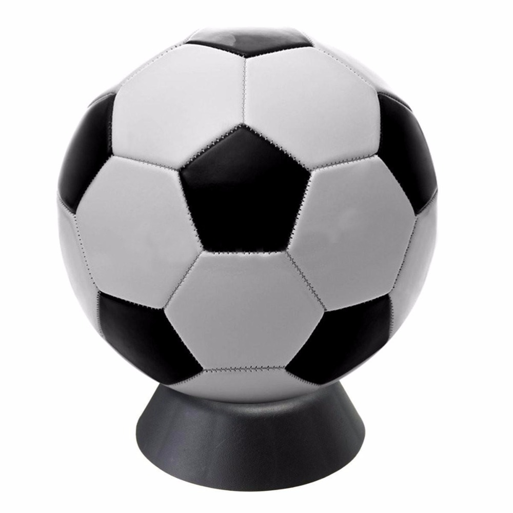 High Quality 1 Pc Basketball Football Soccer Stands Rugby Ball Support Base Black Color Plastic Ball Stand Display Holder To Win Warm Praise From Customers