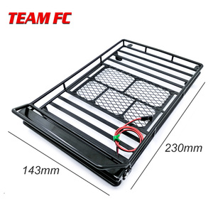 Image 2 - Metal Roof Rack Luggage Carrier with 36 LED Spotlight bar For 1/10 RC Car Trx4 RC4WD Cherokee Wrangler Axial Scx10 S38