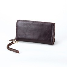 free shipping new fashion brand men's wallet male wristlets clutches 100% genuine cowhide leather famous classic vintage design