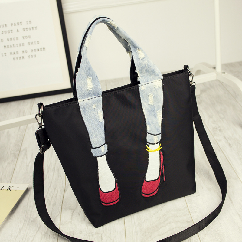83d84fce0eb8 Women Waterproof Oxford Handbag Japan and South Korea Style High heels  Beautiful legs