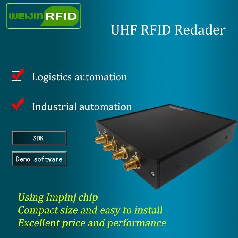 UHF RFID fast läsare 915MHz 4 antennport VIKITEK VFR4 - Säkerhet och skydd - Foto 2