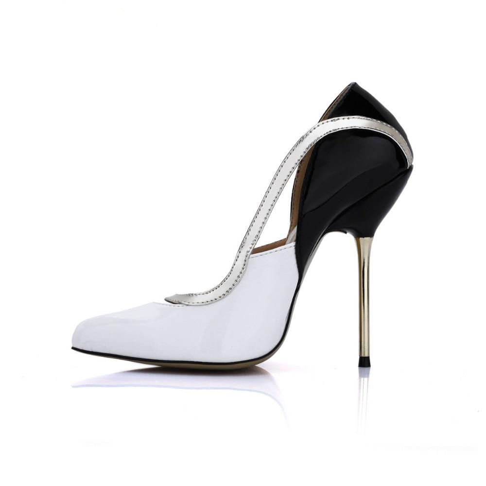 Patchwork Pie Dedo White Atractivas Mujeres Del Partido Vestido Charol Zapatos 2018 De Bombas Altos Stiletto Punta Señoras Tacones pink Recortes Novia Moda Black 8nddxZTR5
