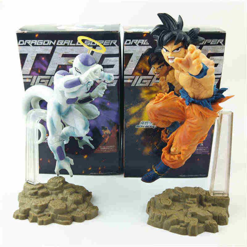 Пластиковая фигурка Banpresto Dragon Ball супер-нашивка fighers Goku Frieza фигурка ПВХ модель игрушки Гоку черные волосы кукольная Статуэтка