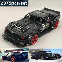 New 1965 Ford Mustang Hoonicorn Racing Car fit  Technic MOC-22970 compatible 20102 building block bricks kid toys gift