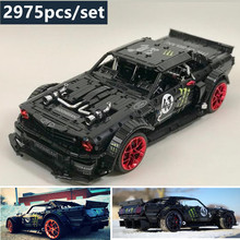 New 1965 Ford Mustang Hoonicorn Racing Car fit legoings Technic MOC-22970 compatible 20102 building block bricks kid toys gift