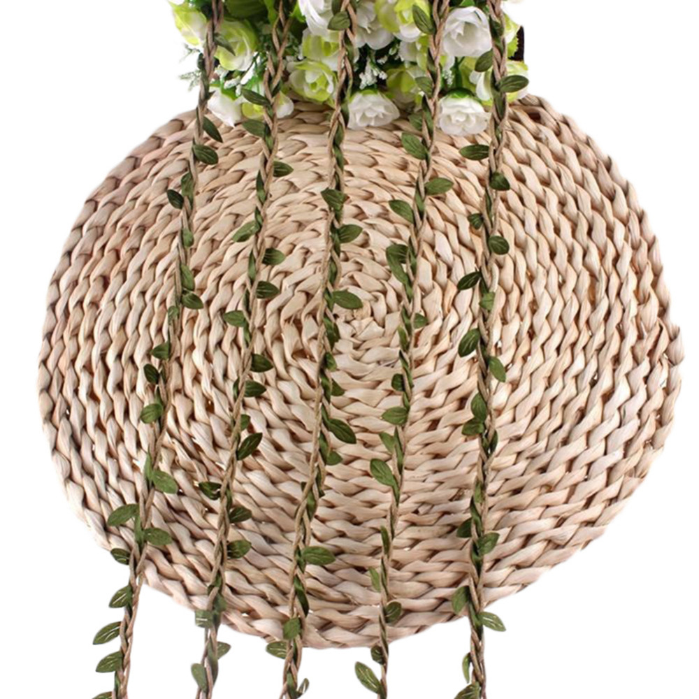 10m Raw Jute Twine Wax String With Leaves Natural Diy Pictures Album Drawstring Rustic Decor Wedding
