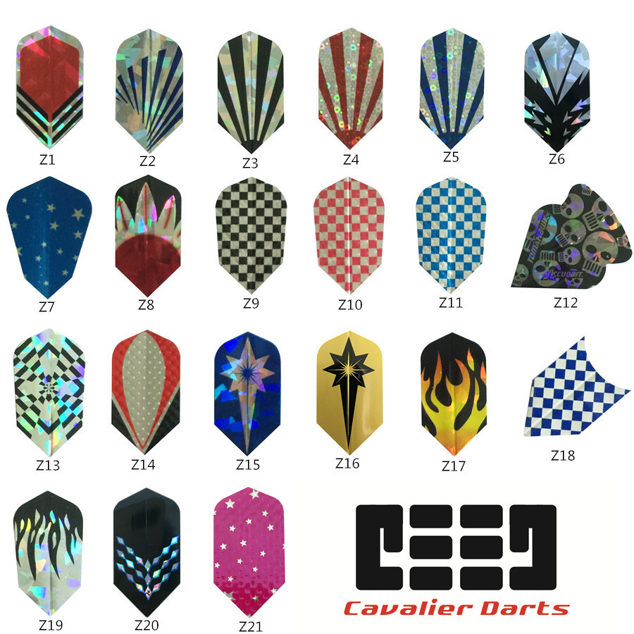 CAVALIER Professional 15/30 Pcs Bling Laser Tail Flight Professional Darts Flights Set High Quality Dart Wing Dart Accessories