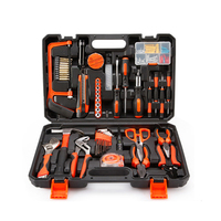 102PCS Home Tool Set Household Tool Set Home Repair Tool Set Hand Toolbox Kit with Plastic Wrench Screwdriver Knife Storage Case