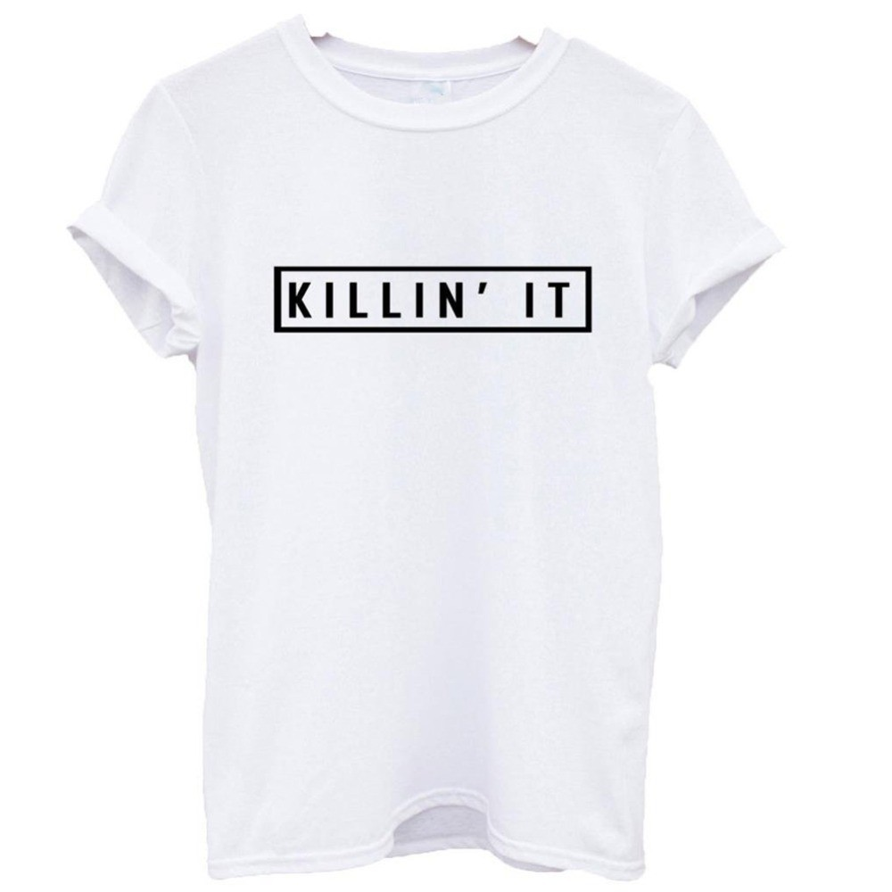 Killin-It-Fashion-Cotton-Women-T-shirt-T-shirt-Tops-Harajuku-Tee-White-Black-Short-Sleeve2