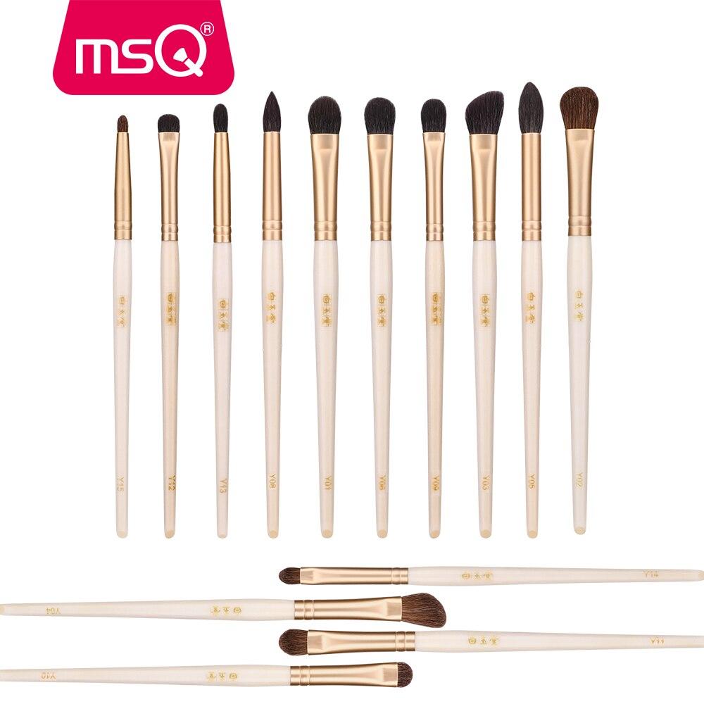 MSQ Makeup Brushes Sets Eye Shadow Eyeborow Concealer Nose Eyes Make Up Brush Set Luxury Beauty Tools Horse/Goat Hair Gold Tube