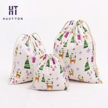 Christmas Deer Storage Bag Gift Bag Rectangle Drawstring Bag