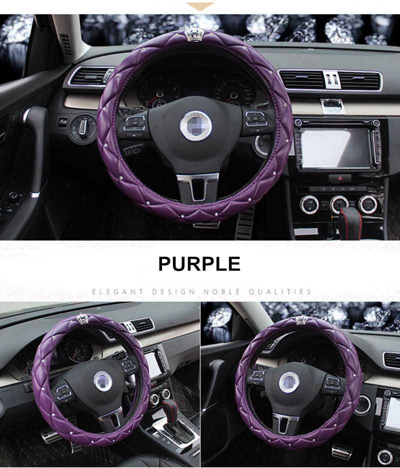 leather steering wheel cover 8