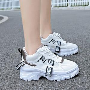 Image 3 - Lucyever 2019 nowa wiosna kobiety obuwie damskie trwała platforma zasznurować futro obuwie studenckie buty szkolne Zapotos Mujer