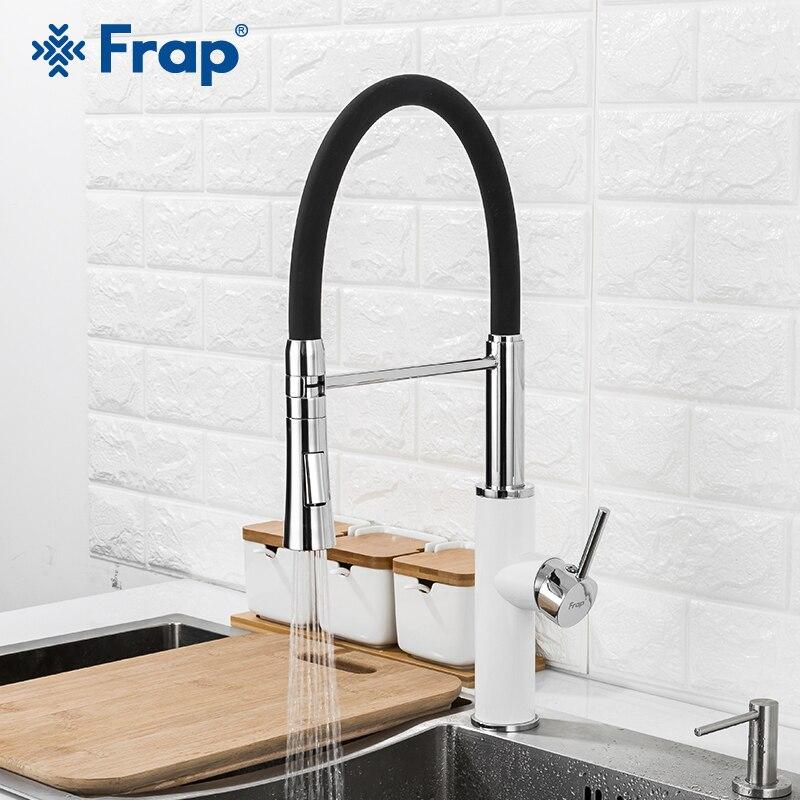 Frap robinet de cuisine 2 fonction bec mitigeur de cuisine robinet eau froide et chaude évier robinet tirer vers le bas robinets d'eau F4452-6/7/8