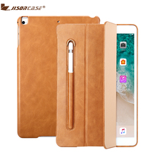 Jisoncase Microfiber Case For iPad 9.7 Cover Kickstand with Pencil Slot Luxury Shockproof Folio Tablet 2018 A1893
