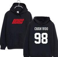 New arrival print Sweatshirts ikon kpop album my type of member name for black / white fans hooded sweatshirt plus size k pop