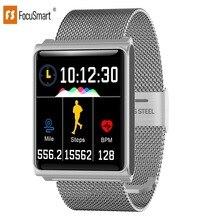 цена на Focus Smart N98 Colorful Screen Heart Rate Monitor Bracelet Blood Pressure Fitness Tracker Smart band Sport Watch Wristband