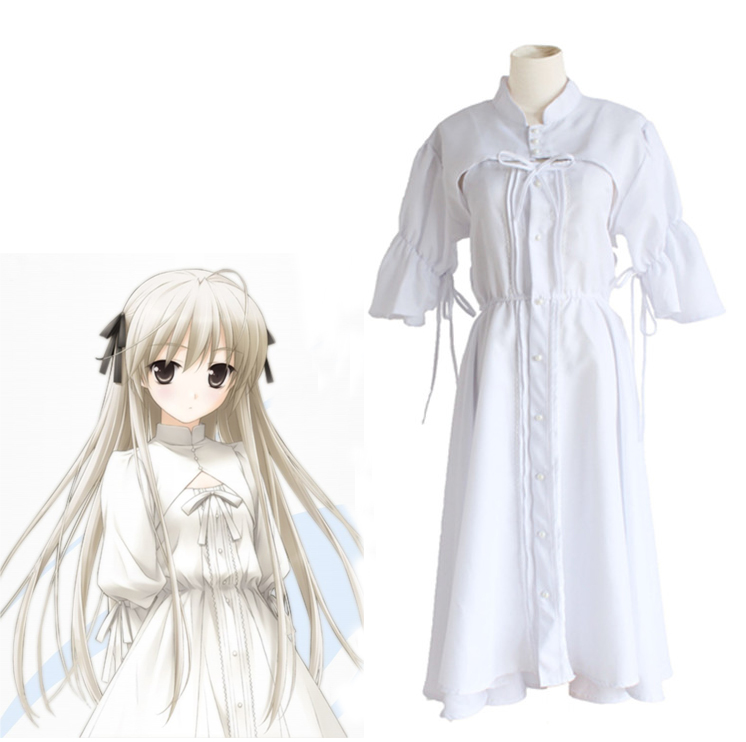 Anime Yosuga no Sora Cosplay Costume Kasugano Sora White Lolita Dress Daily Dress