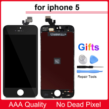 AAA Quality For iphone 5 5S 5C 6 7 LCD Display Touch Screen Digitizer Assembly Replacement White or black For iphone 6 7 LCD