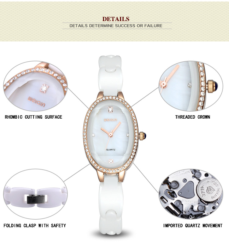 luxo cristal strass senhoras relógio cinta cerâmica
