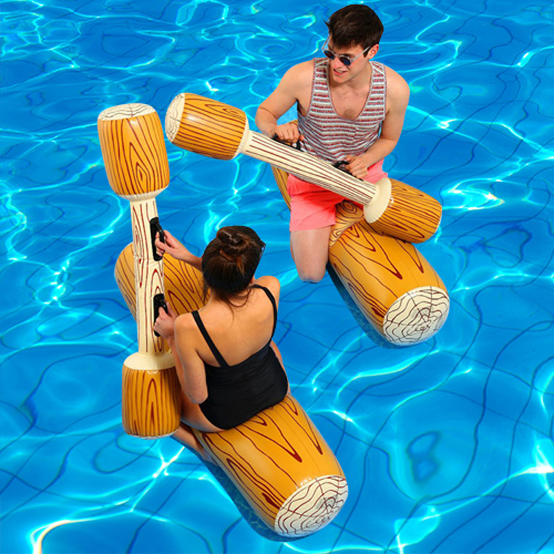 4 copë / grupe Log Joust Pool Float Water Pool inflatable Bumper Toy - Sporte ujore