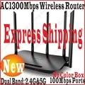 Экспресс-Доставка Чин-Прошивки 5*100 Мбит/С Портов TP-LINK AC1300 Беспроводной Двухдиапазонный 2.4 Г + 5 Г wi-fi Маршрутизатор 11AC Беспроводной Маршрутизатор AP WDS