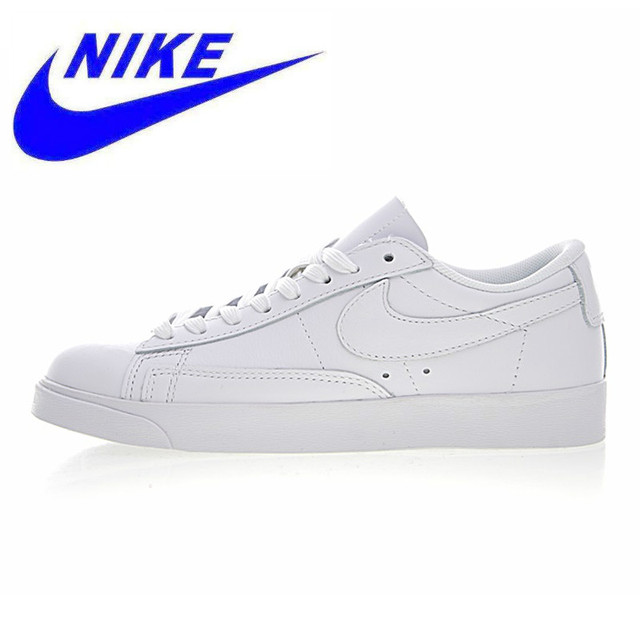 newest 48cb4 637e0 US $96.39 49% OFF|Nike Blazer Low Premium Men's and Women's Skateboarding  Shoes, Waterproof Wear resistant Lightweight, White AA3961 104-in ...