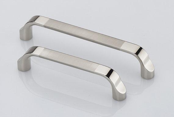 5u0027u0027 modern bright silver drawer handles dresser pull