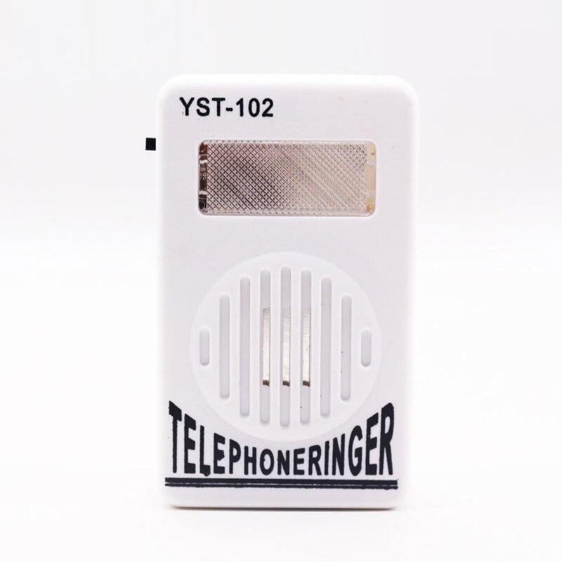 Amplifier Strobe Light Flasher Bell Extra-Loud Telephone Phone Ringer Enhancer Telephone Ringtone Amplifier Increase Volume Tool