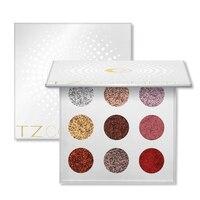 Super Shiny Eyeshadow Pallete 9 Colors Glitter Stage Makeup Eyeshadow Palette Rainbow Diamond Pressed Glitter Eyeshadows