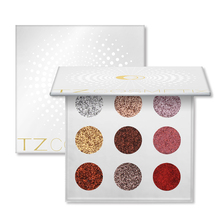 9 Colors Eyeshadow Pallete Pigmented Glitter Stage Makeup Eyeshadow Palette Rainbow Diamond Pressed Glitter Eyeshadows Palette