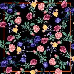 rose foulard scarfs square femme mujer polyester satin silk head hijab shawl tippets handbag scarf big fashion