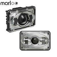 Marloo 2 pcs 4 x 6 LED Hi Beam Headlight 4X6Inch Rectangular Low Beam Headlight 4X6 High Low Beam Projector Headlights