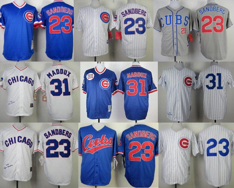 info for 2fa0c 5df90 Chicago Cubs 31 Greg Maddux Jersey 23 Ryne Sandberg Jersey ...