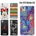 ZTE Blade X3 D2 Телефон Случае Совершенный Дизайн Живопись ТПУ Обложка Чехол для ZTE Blade X3 D2 Х 3 D 2 Высокое Качество коке fundas