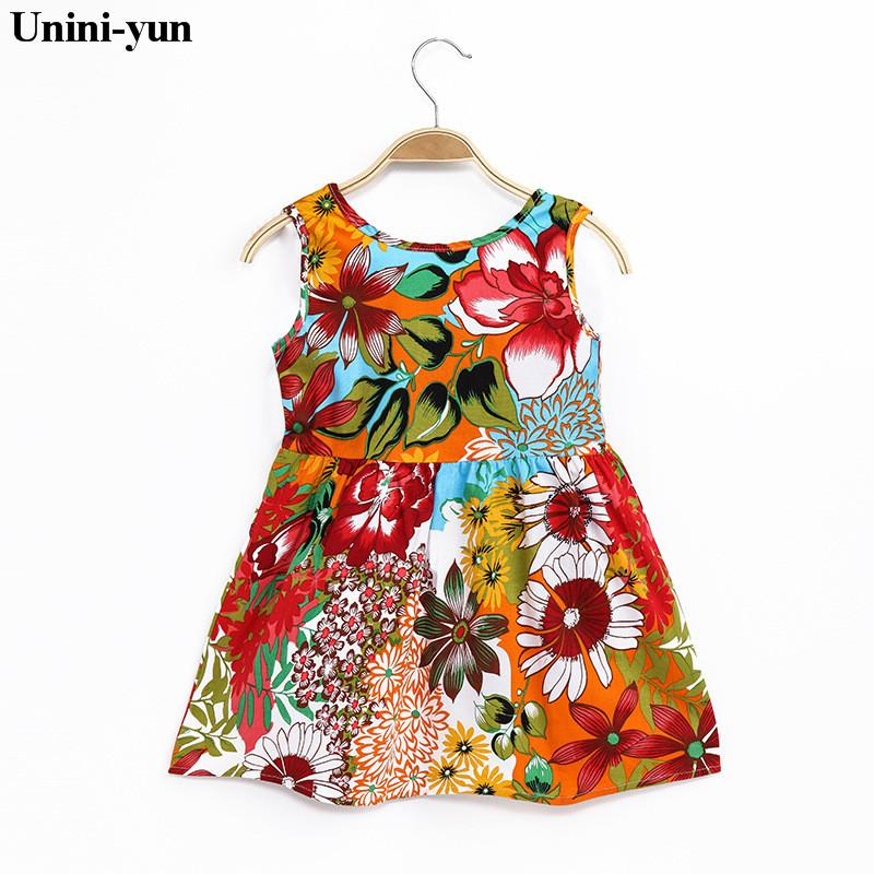 Unini-yun New Summer Baby Girl Dress Princess 18M-8t Birthday Toddler Girl Dot KIDS Dresses Baby Girls Cotton Clothes baby cloth