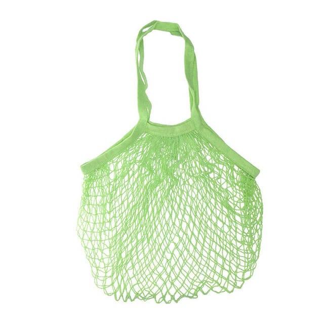 CONEED Frutas Reutilizáveis Mercearia Shopper Tote do Algodão Corda Malha Saco Organizador Bolsa de Viagem De Armazenamento Reciclar Para Frutas Carpa 19feb9