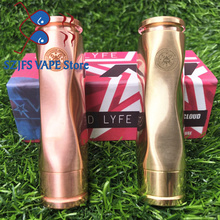 все цены на AV Medieval Gyres Mod kit 18650 Battery 510 thread 25mm connection Mech Mod Brass Material Mechanical Mod vape mod vs AV M1P5 онлайн