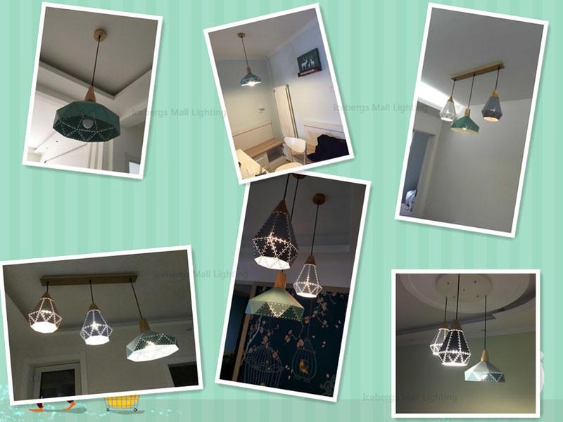 Nordic Loft Industrail Laser Cutting Home Pendant Lamps Lighting Modern Scandinavian Design Wood Hanging Light For Living Room20