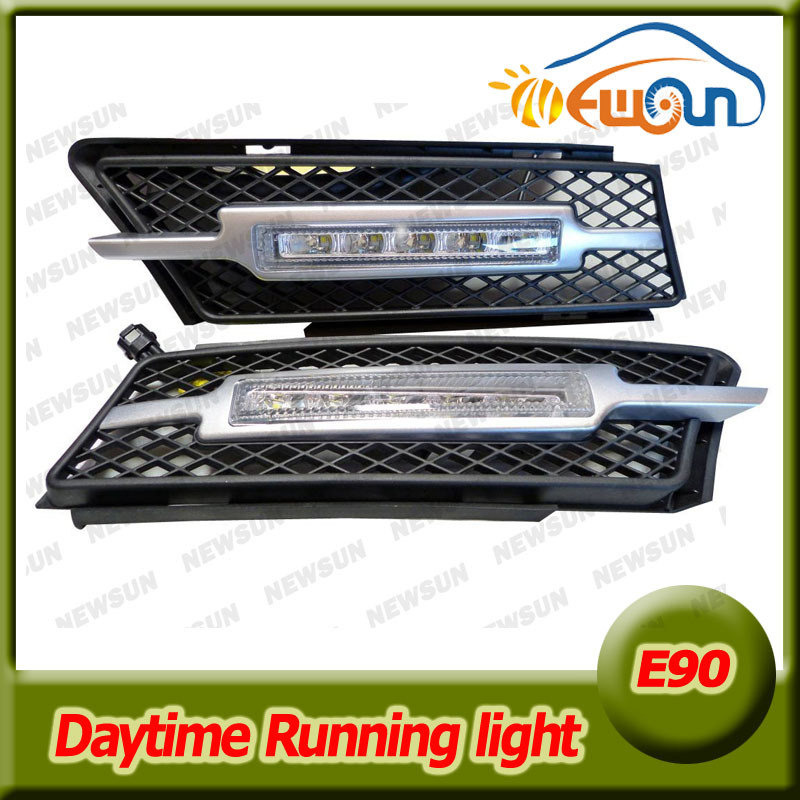 Super Bright 10W Led Daytime Running Lights DRL for BMW 3 Series E90 E91 2005-2008 direct fit Daylight LED DRL Driving Fog Lamp fit for 5 series drl car lamp led daytime running lights for bmw 2008 2012 5 series f10 f11 f18 520i 523i 525i 528i 530i 535i