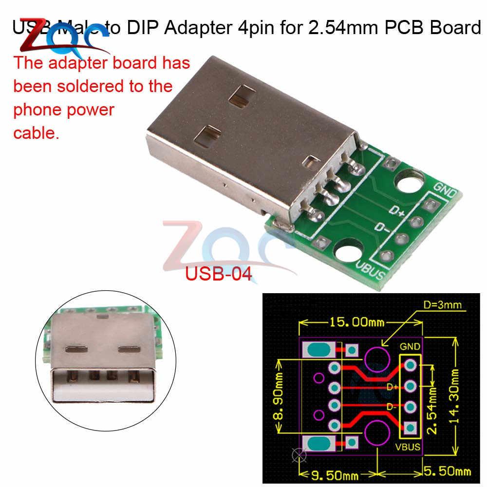 Micro Mini USB USB A mâle USB 2.0 3.0 A femelle USB B connecteur Interface à 2.54mm DIP PCB convertisseur adaptateur carte de sortie