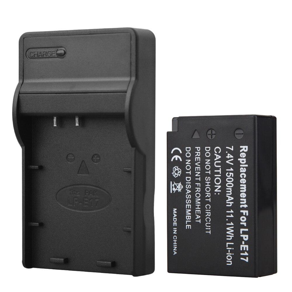 1500 мАч lp-e17 lpe17 Батареи для камеры Canon EOS M3 <font><b>M5</b></font> 750d 760d t6i T6s 8000D поцелуй X8i