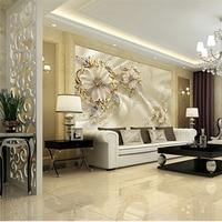 Custom 3D DIY Fabric Textile Wallcoverings For Walls Matt Silk For Living Room Washable Wallpaper Floral