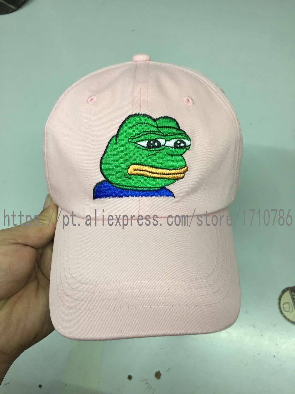 None Of My Business Emoji King Lebron Jame Sad Kermit Tea Hat Pepe The Sad Meme Frog Twitter Famous Dank Meme Hat slide Buckle
