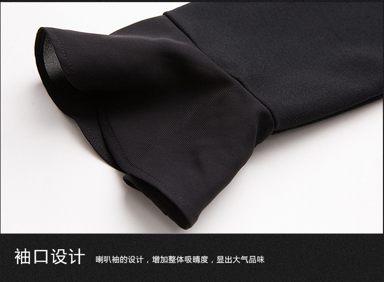 Manches Élégante Dames Tunicm Flare Mode Robes 2018 Noir Plus V Casual De Volants 5xl Bal Robe La À Printemps xxxxxl Cou Taille 5PqnFxnwI