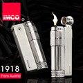 Vintage IMCO 6700 gasolina vieja más ligero de metal Genuino, Hombres encendedor