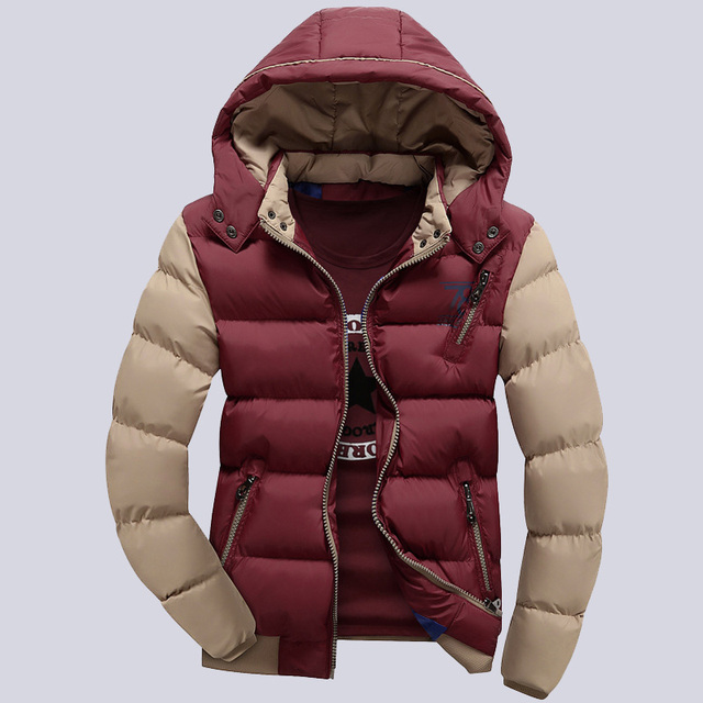 4XL Mens Polyester Cotton Padded Jackets And Coats Men Fashion Style Parkas Warm Men's Winter Hooded Jacket Windbreaker,UMA365